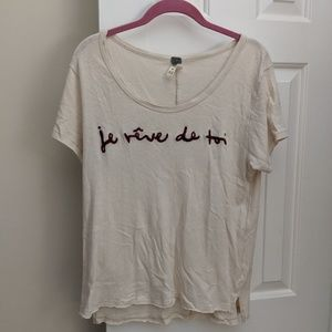 Cream Free people shirt